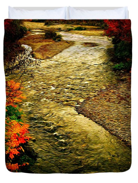 Duvet Cover featuring the photograph Stream by Bill Howard