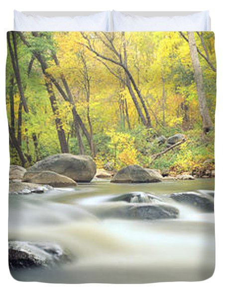 Stream In Cottonwood Canyon, Sedona Duvet Cover