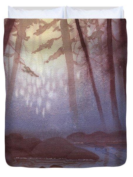 Stream In Mist Duvet Cover