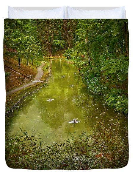 Stream In Paradise Duvet Cover