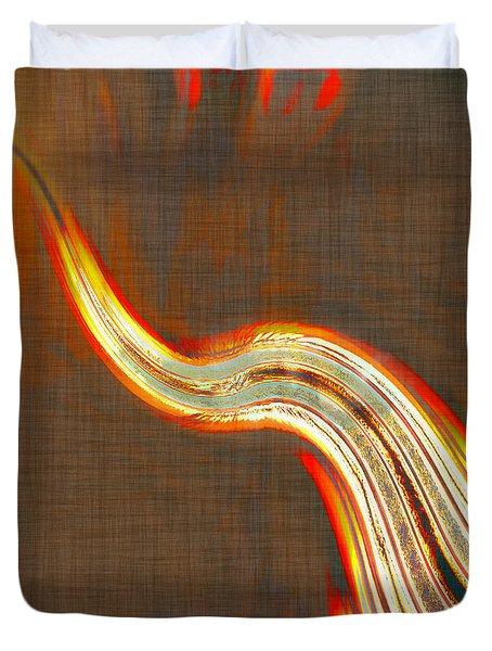 Streaming Orange Duvet Cover by Susan Leggett