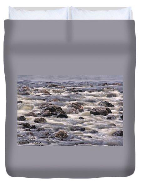 Streaming Rocks Duvet Cover