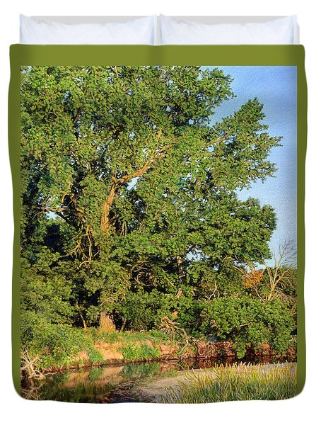 Streamside Cottonwood Duvet Cover