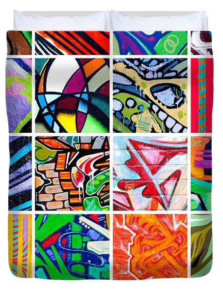 Street Art Patchwork Duvet Cover by Art Block Collections