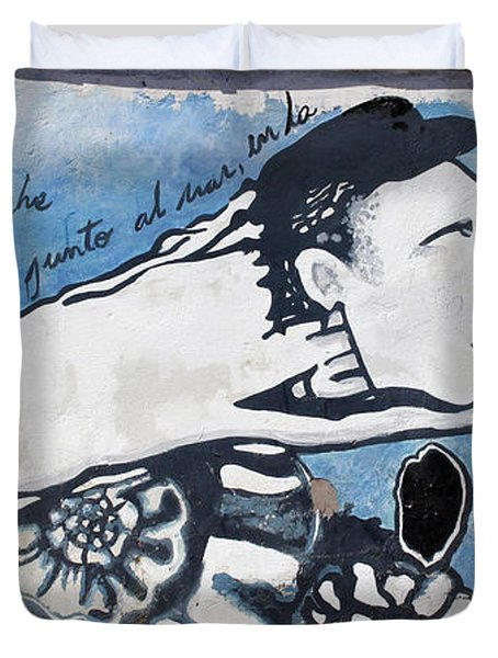Street Art Santiago Chile Duvet Cover by Kurt Van Wagner