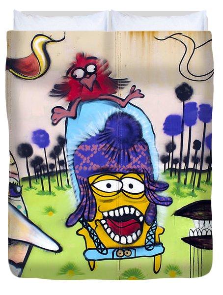 Street Art Valparaiso Chile 3 Duvet Cover by Kurt Van Wagner