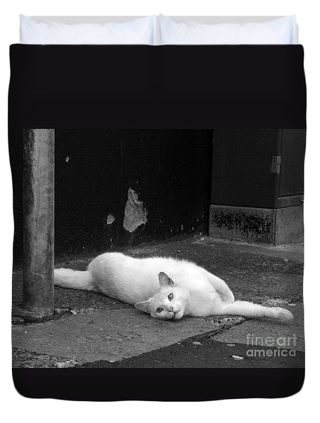 Street Cat Duvet Cover
