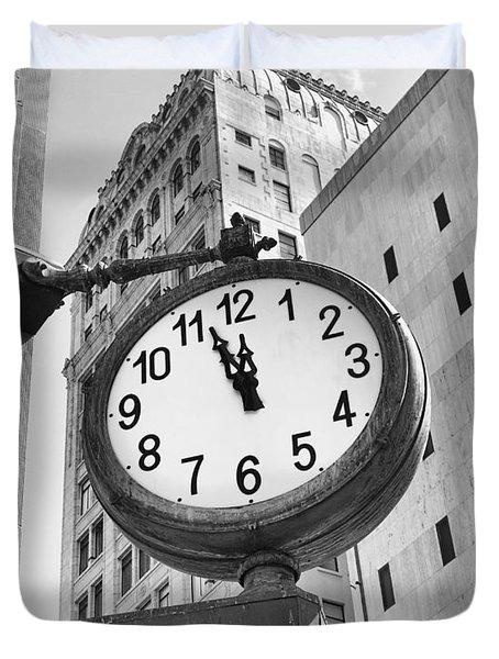 Street Clock Duvet Cover