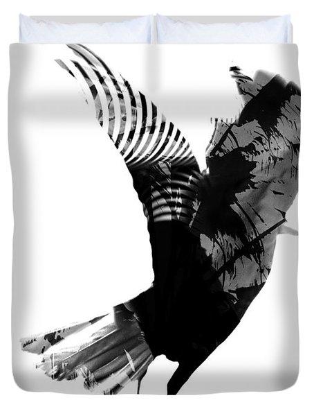 Street Crow Duvet Cover by Jerry Cordeiro