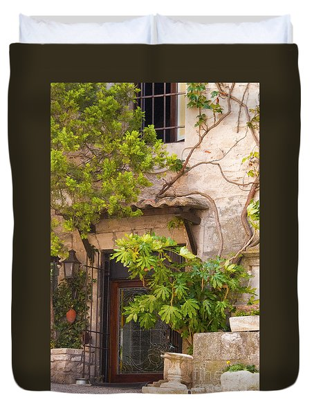 Street Entrance Duvet Cover by Bob Phillips