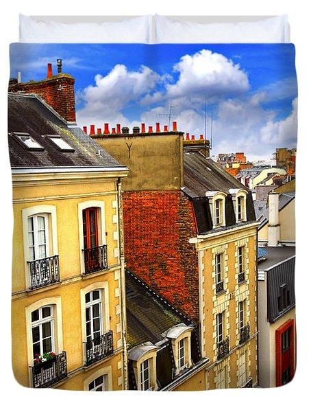 Street In Rennes Duvet Cover by Elena Elisseeva