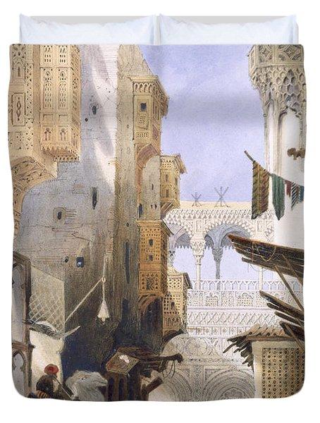 Street Leading To El Azhar, Grand Duvet Cover