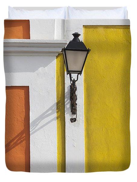 Street Light In Old San Juan Streetlight Puerto Rico Duvet Cover