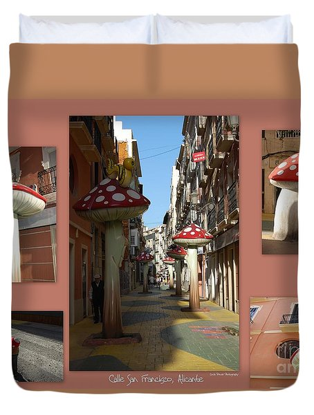 Street Of Giant Mushrooms Duvet Cover