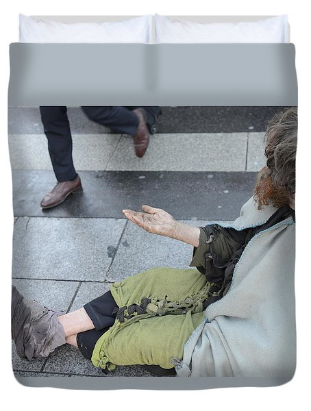 Street People - A Touch Of Humanity 25 Duvet Cover