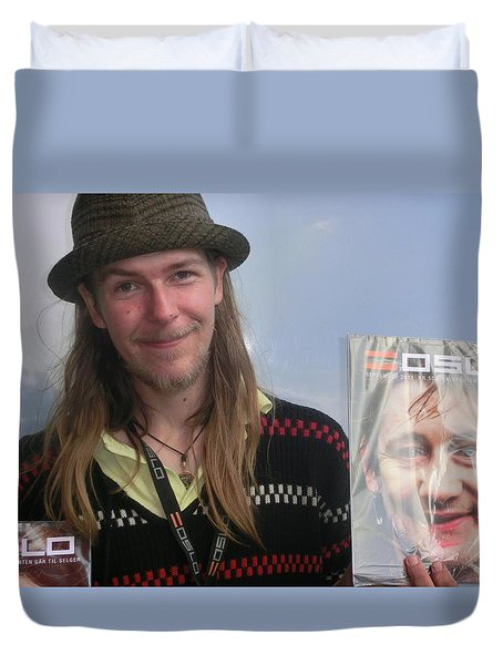 Duvet Cover featuring the photograph Street People - A Touch Of Humanity 5 by Teo SITCHET-KANDA
