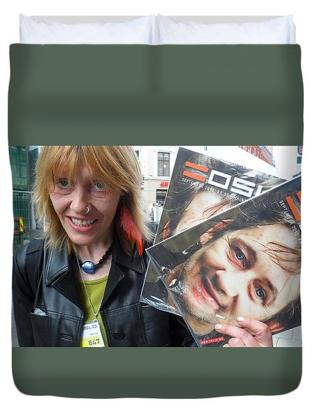 Duvet Cover featuring the photograph Street People - A Touch Of Humanity 6 by Teo SITCHET-KANDA