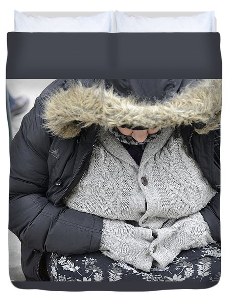 Duvet Cover featuring the photograph Street People - A Touch Of Humanity 7 by Teo SITCHET-KANDA