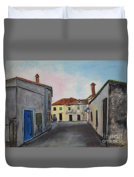 Street View From Kavran Duvet Cover