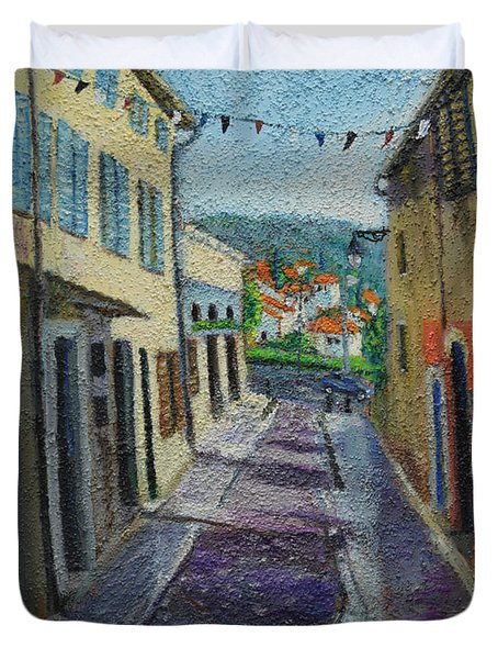 Street View From Provence Duvet Cover