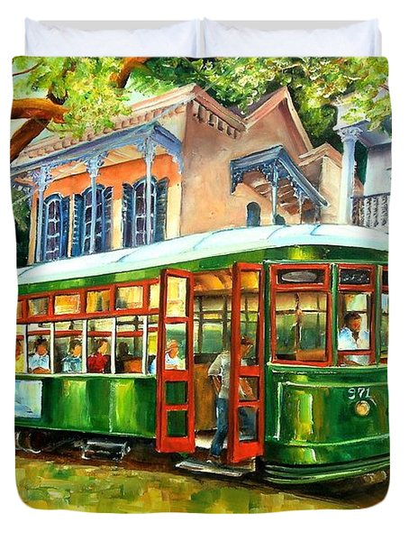 Streetcar On St.charles Avenue Duvet Cover