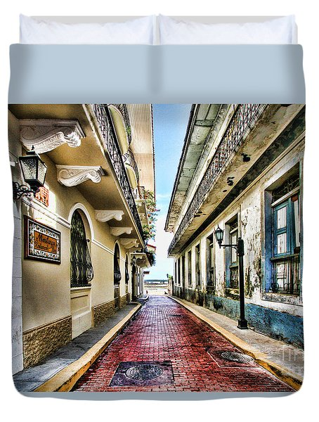 Streets Of El Casco Viejo 2  Duvet Cover