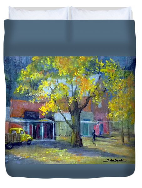 Streets Of Genoa Duvet Cover by Judie White