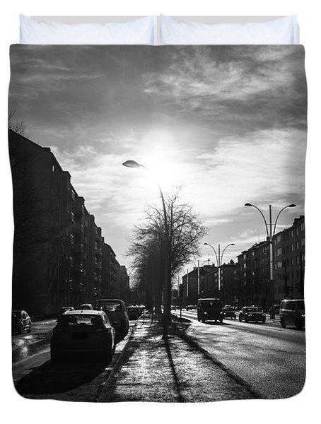 Streets Of Helsinki Duvet Cover