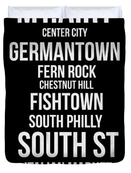 Streets Of Philadelphia 2 Duvet Cover