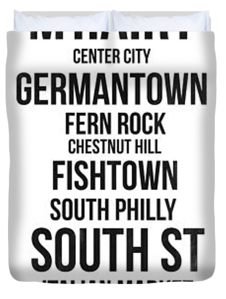 Streets Of Philadelphia 3 Duvet Cover