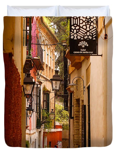 Streets Of Seville  Duvet Cover