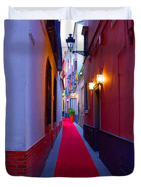 Streets Of Seville - Red Carpet  Duvet Cover