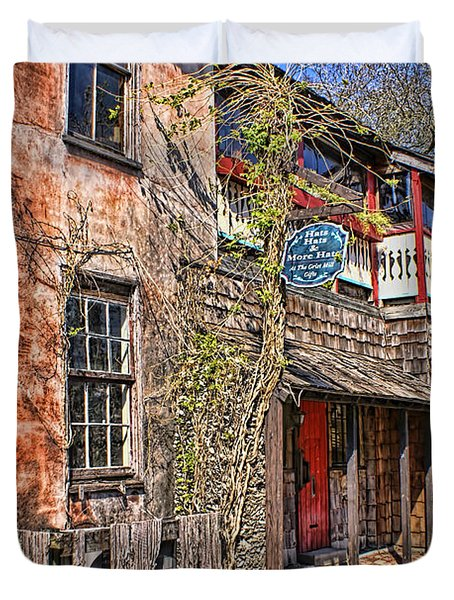 Duvet Cover featuring the photograph Streets Of St Augustine Florida by Olga Hamilton