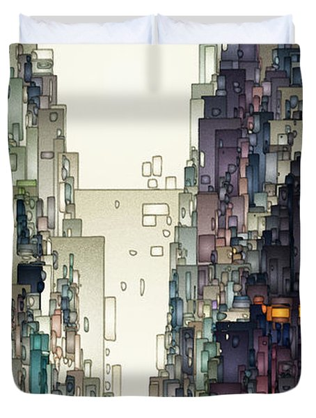 Streetscape 1 Duvet Cover by David Hansen