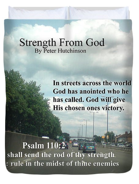 Strength From God Duvet Cover