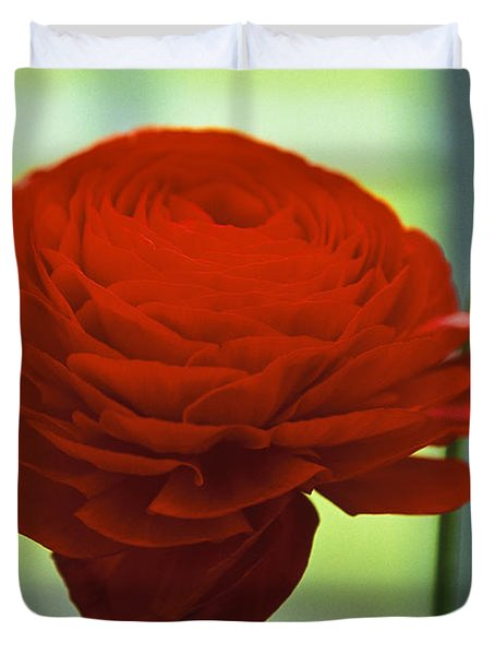 Duvet Cover featuring the photograph Striking Red by Lana Enderle