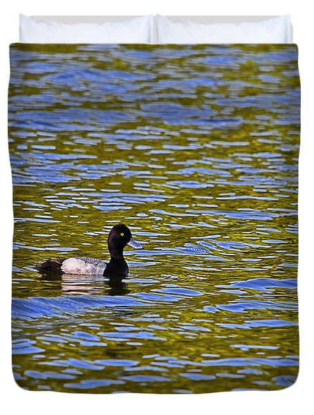 Striking Scaup Duvet Cover by Al Powell Photography USA