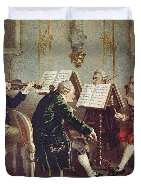 String Quartet Colour Litho Duvet Cover
