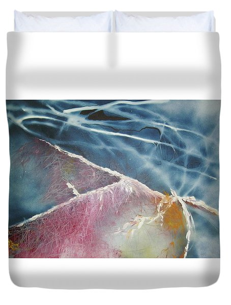 String Theory - Wave Duvet Cover by Carrie Maurer