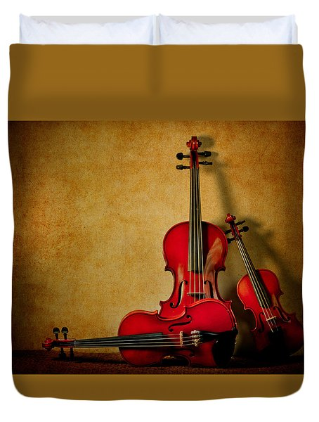 String Trio Duvet Cover by David and Carol Kelly