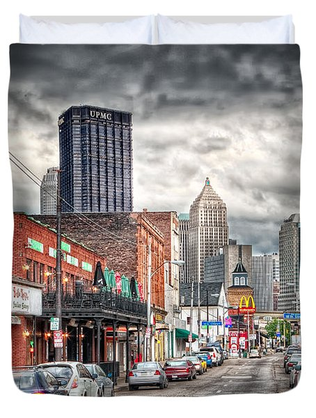 Strip District Pittsburgh Duvet Cover by Emmanuel Panagiotakis