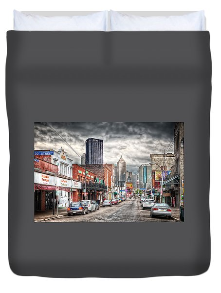 Strip District Pittsburgh Duvet Cover