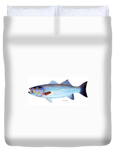 Striped Bass Duvet Cover by Carey Chen