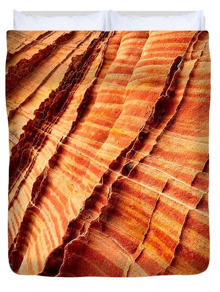 Striped Sandstone Duvet Cover