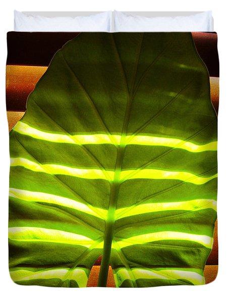 Stripes Of Light Duvet Cover by Nina Ficur Feenan