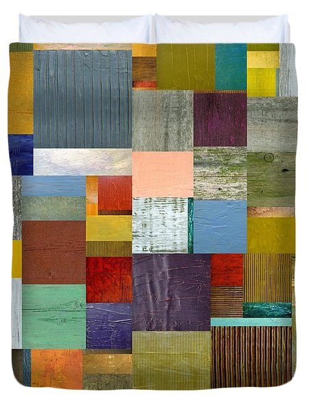 Strips And Pieces Vl Duvet Cover by Michelle Calkins