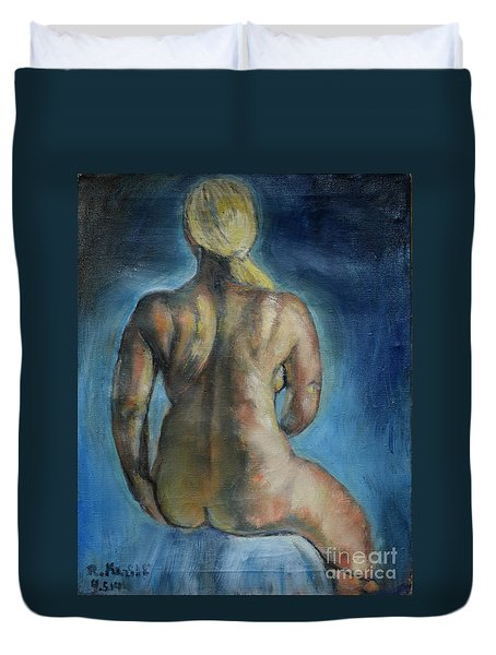 Strong Blond's Back Duvet Cover