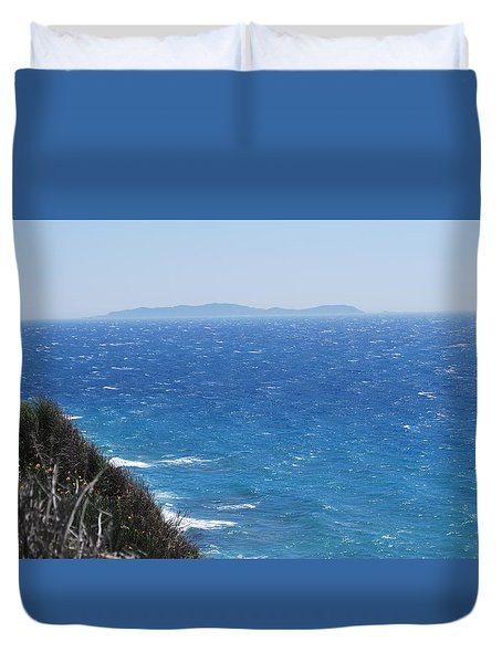 Duvet Cover featuring the photograph Strong Mistral by George Katechis