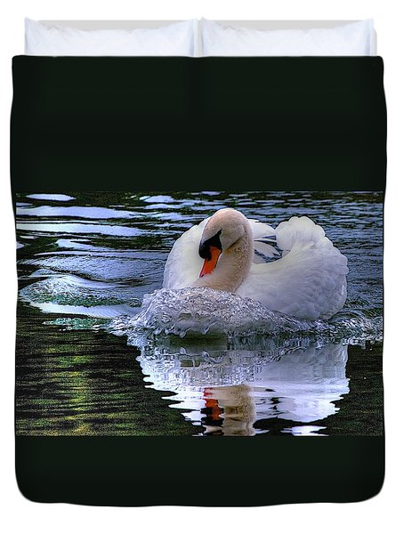 Duvet Cover featuring the photograph Strong Swimmer by Dennis Baswell
