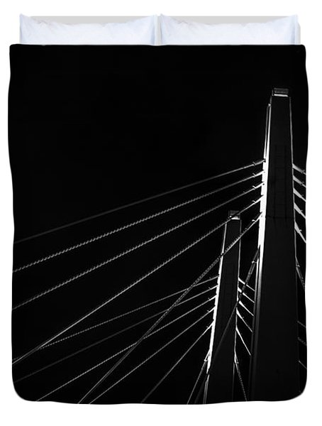 Structure In The Shadows Duvet Cover by CJ Schmit